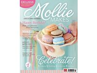 Complete collection of Mollie Makes Magazine issues 1 to 71 most with original free gift