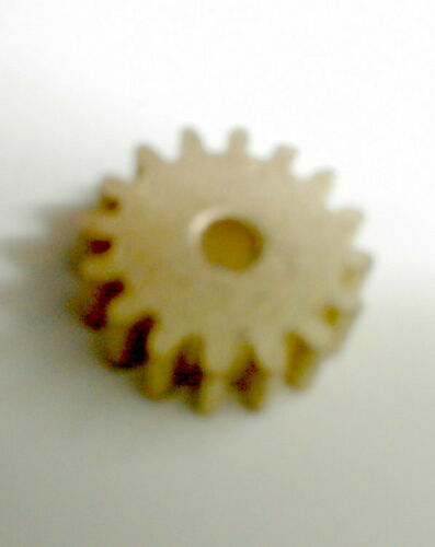 "13 Tooth Regular Brass Pinion Gear Cox 48 Pitch .078"" Motor Shaft Slot Car NOS"