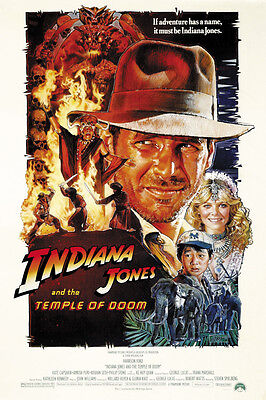 Indiana Jones And The Temple Of Doom  1984  Harrison Ford Movie Poster 24X36 B
