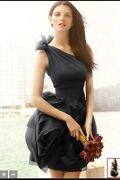 Black One Shoulder Bridesmaid Dress