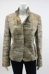 AKRIS-PUNTO-Multi-Color-Linen-Jacket-Sz-10