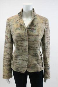 AKRIS-PUNTO-Multi-Color-Linen-Jacket-Sz-10
