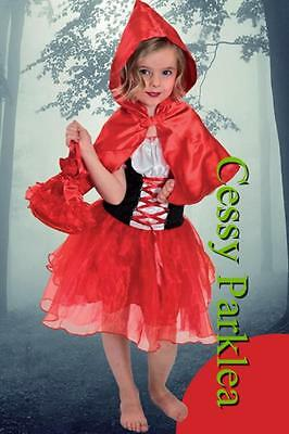 F4-2 Little Red Riding Hood Deluxe Girls Costume Size Toddler Fancy Dress S M L
