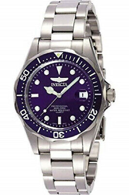 Invicta Men's 9204 Blue Dial Pro Diver Collection Silver-Tone Watch - New in Box
