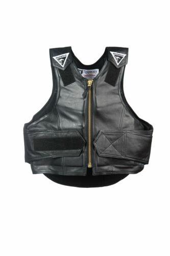 Phoenix Rodeo Rough Rider Vest - Black Leather - 1014 (Various Sizes)