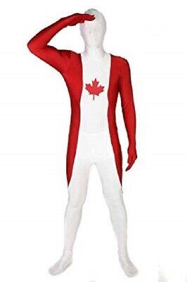 Adult Costumes Canada ( CANADA FLAG MORPHSUIT JUMPSUIT COSTUME ADULT SIZE MEDIUM UP TO 5'4
