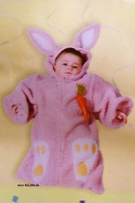 Baby Karneval Fasching Kostüm Kuschelig Teddy Fußsack Hase Rosa Karotte - Teddy Baby Kostüm