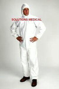 PROTECTIVE COVERALLS DISPOSABLE OVERALLS X 1 WHITE (XL)