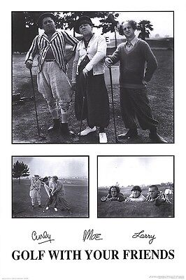 THREE STOOGES - GOLF WITH YOUR FRIENDS - POSTER 24x36 - FUNNY 9972](Three Stooges Golf)