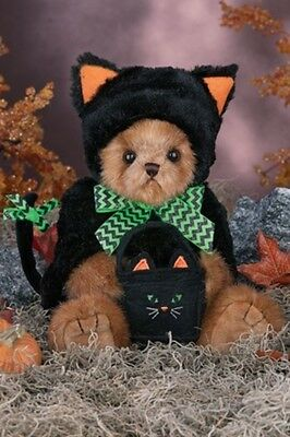 "10"" MIDNIGHT MAGIC*Bearington Teddy Bear*NEW*NWT*Halloween*BLACK CAT*181328"