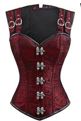 Women's STEAMPUNK Brocade Steel Boned/Waist Cinch Corsette Costume Clubwear HOT!