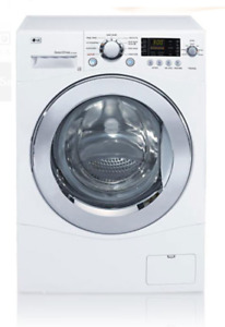 Gently Used LG WM1355HW 24 Inch Compact Front Load Washer 2.7cu
