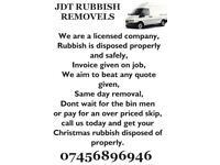Rubbish removal company licensed