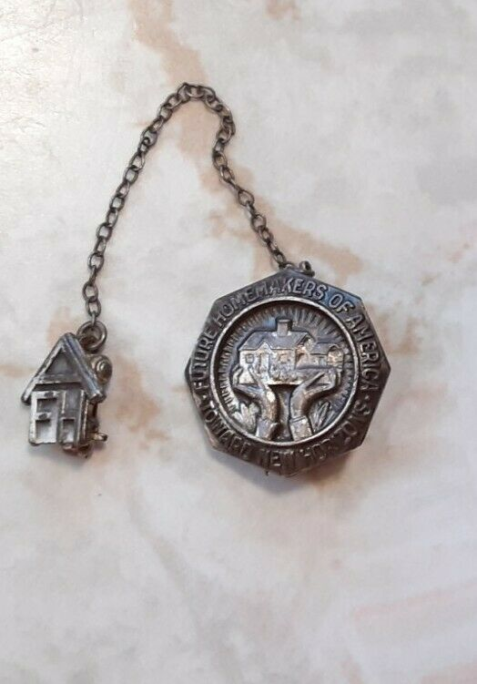 Vintage FHA Future Homemakers of America Pin~1950s Sterling Silver