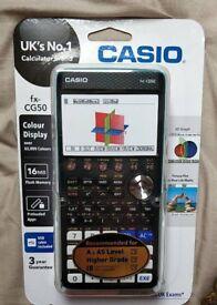 Casio fx-CG50 graphical calculator (mint)