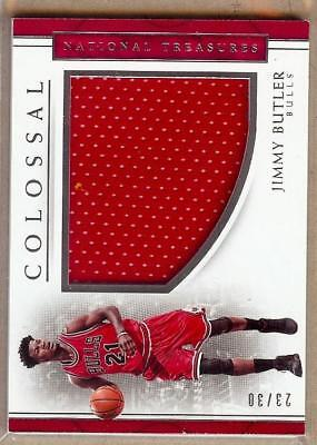 2016 17 National Treasures Colossal Jimmy Butler Jersey 23 30