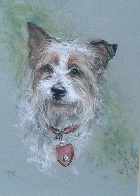 Jean Woodward. Original painting of a Jack Russell Terrier. Framed for sale  Leamington Spa