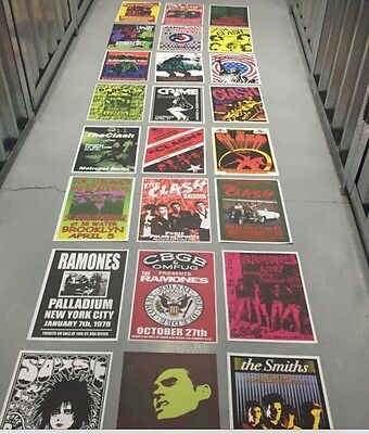 100 SIZE A3 CONCERT POSTERS JOB LOT WHOLESALE ROCK PUNK INDIE PSYCH POP METAL