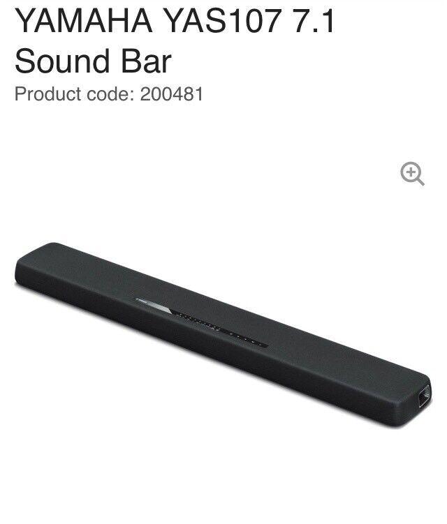 Yamaha yas 107 soundbar with guarantee in sandbach for Yamaha yas 107 soundbar