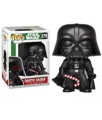 Funko Pop! Star Wars #279 Darth Vader w/ Candy Cane Limited Edition W/ Case.