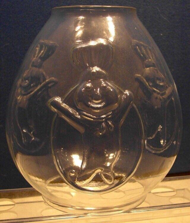 Pillsbury Doughboy Raised Relief Glass Carousel Gumball Vending Machine Globe