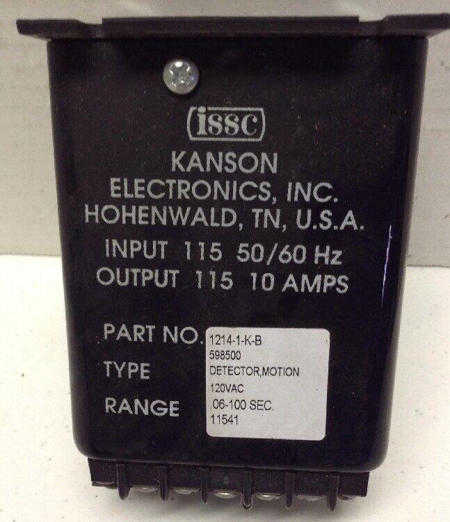 ISSC Kanson Electronics Motion Detector 1214-1-K-B