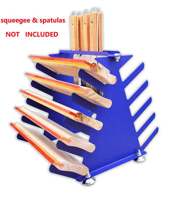 5 Layers Screen Printing Squeegee Spatulas Holder Desktop Shelving Tool Rack