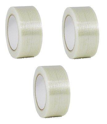 3 Rolls 2 X 60 Yd Filament Reinforced Strap Fiberglass Tape 3.9 Mil Free Ship