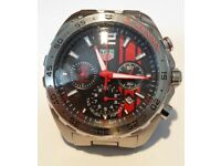 TAG SPECIAL EDITION SENNA STAINLESS STEEL CASE IS 46mm AND DIAL IS 35mm APPROXIMATE