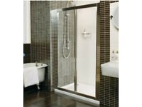 Roman shower enclosure screen