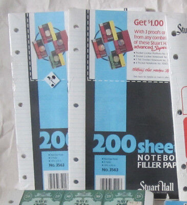 Lot Of 2 Notebook Filler Paper 400 Sheets School Supplies Loose Leaf Holes Ruled