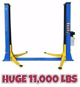NEW HEAVY DUTY 11,000 LBS 2 POST CAR TRUCK LIFT HOIST 220V 1 PH TRUCK AUTO TIRE CHANGER WHEEL BALANCER