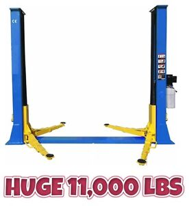 NEW 11,000 LBS GARAGE 2 POST SHOP CAR HOIST LIFT 220V 1 PH