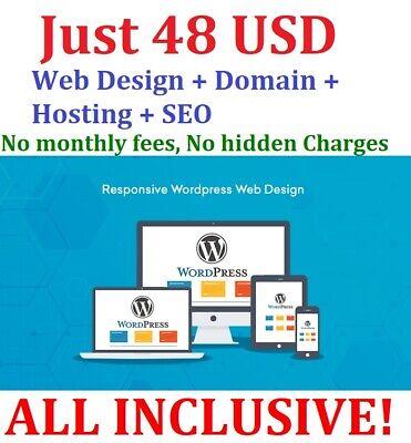 Unlimited Web Pages Free Domain Hosting Seo Bespoke Website Design Wordpress