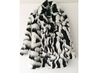 BRAND NEW ASOS WOMENS FAUX FUR COAT SIZE 8