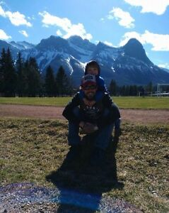 Father and son looking for home in Banff/Canmore