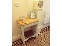 Duck egg console, side, hallway table