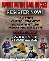 Ball Hockey ages 14-18