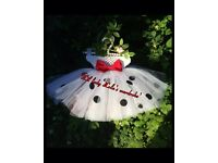 101 dalmations Disney themed tutu and matching accessories