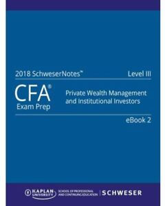CFA Level 3 2018 Study Package