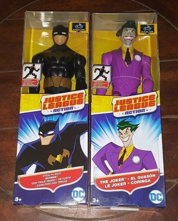 "Stealth batmna DC justice league 12/"" Action Figure Batman Joker Flash"