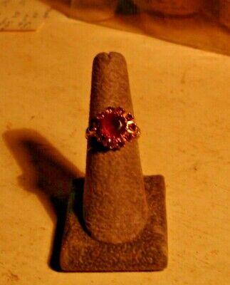 Beautiful vintage amethyst ring, 10 Kt. gold, estate find, -