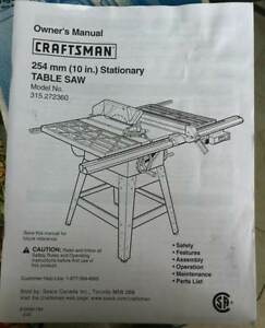 Craftsman 254mm (10in.) Stationary Table Saw