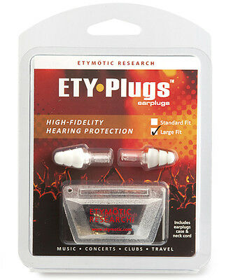 Etymotic Research ER20 ETY-Plugs High Fidelity Musician Earplugs - LARGE, -