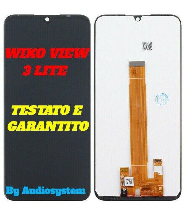 DISPLAY LCD TOUCH SCREEN WIKO per VIEW 3 LITE SCHERMO NERO VETRO DIGITIZER NUOVO
