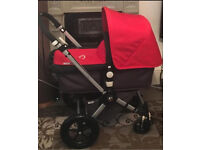 Red&Charcoal Bugaboo Cameleon 2 with many extras