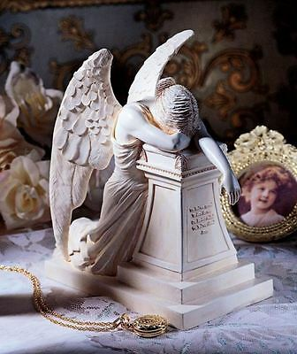 Weeping Angel of Grief Monument Statue Heartbreak Desktop Memorial Sculpture