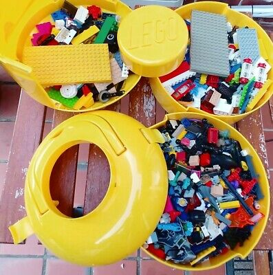 USED Lego Bulk  1.9KG  with Lego Storage Head box
