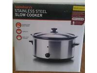 Brand New stainless steel slow cooker, Sainsburys, 4 litre large