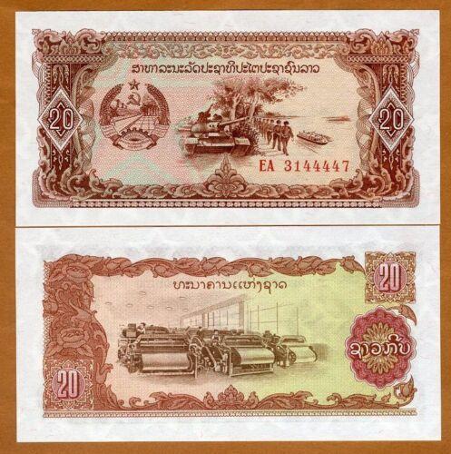 Lao / Laos, 20 Kip, (1979) P-28, UNC > Solders, Tanks